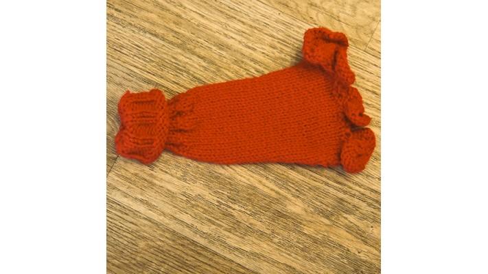 Chandail tricot pour chien de petites races de couleur rouge