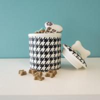 Jarre à biscuits en céramique noir et blanc