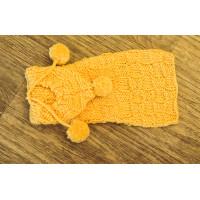 Chandail en tricot pour chien de petites races de couleur jaune