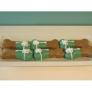 Biscuit pour chien en forme d'os de Noël vert
