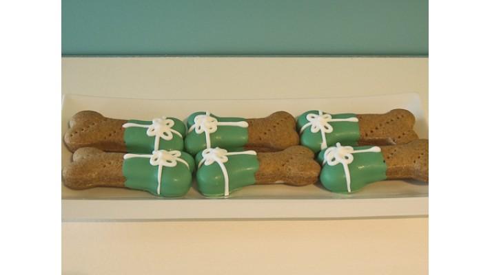 Biscuit pour chien couleurs de Noël